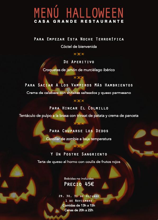 Cursor y Halloween menu pdf - Menú Halloween 2021